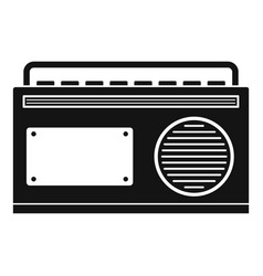 old vintage radio icon simple style vector image
