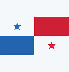 Panama flag for independence day and infographic vector