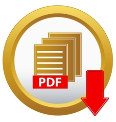 Pdf download button vector