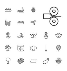 Plant icons vector