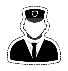 Police agent avatar icon vector