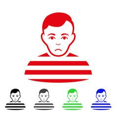 sad prisoner icon vector image