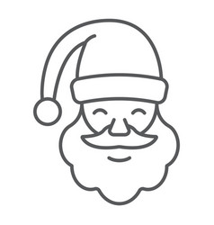 santa claus thin line icon christmas vector image