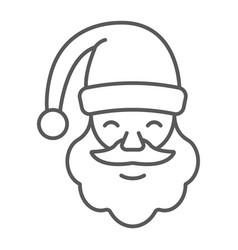 santa claus thin line icon christmas vector image