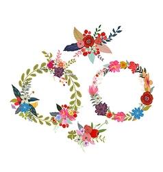 Set of four flower wreaths vector
