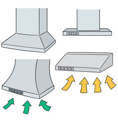 Set of vent hood vector