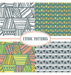 Set tribal seamless patterns it can be used vector