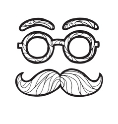 sketch male mustache vector image