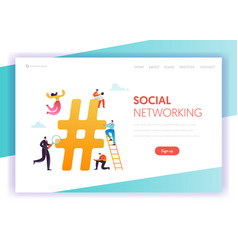 social media networking communication concept vector image