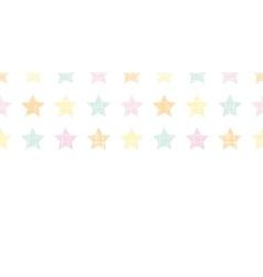 Stars textile textured pastel horizontal seamless vector image