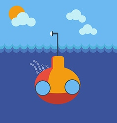 Submarine underwater vector