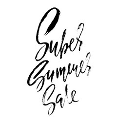 Summer sale inscription handwritten modern vector