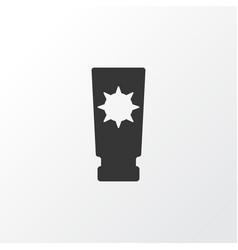 Sunblock icon symbol premium quality isolated vector