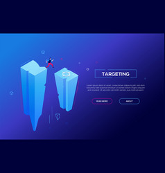targeting - modern colorful isometric web vector image