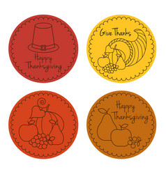 thanksgiving icon circles vector image