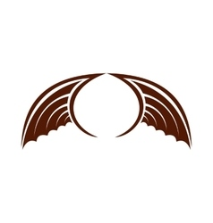 Two brown birds wing icon flat style vector