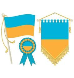 Ukraine flags vector