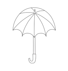Umbrella isolated icon vector image
