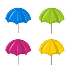 umbrella set symbol icon design vector image