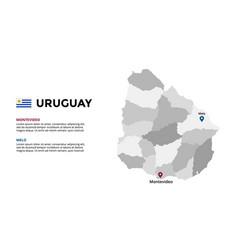 uruguay map infographic template slide vector image