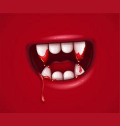 Vampire monster cartoon mouth vector