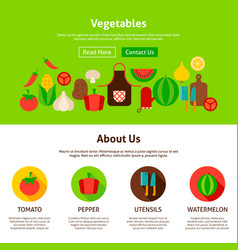 vegetables web design vector image