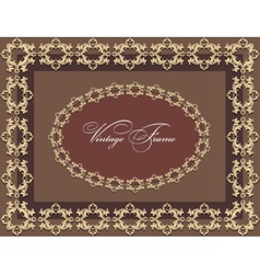 Vintage Abstract floral classic frame vector image