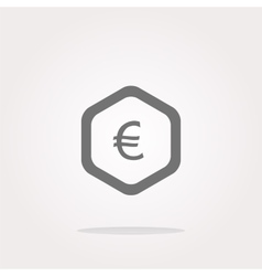 web icon on cloud with euro eur money sign vector image