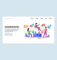 Web site design template customer vector