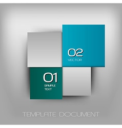 business four squares dark two color II with text vector image
