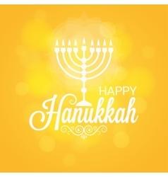 Hanukkah Card Sun Lights Background vector image vector image