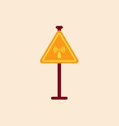 Network badge road sign wifi traffic symbol vector