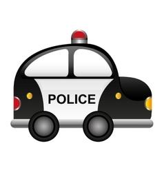police patrol vehicle cartoon vector image vector image