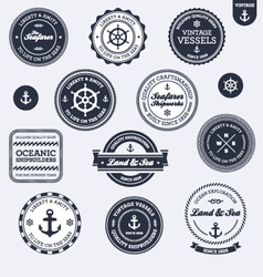 vintage nautical labels vector image vector image