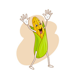 cheerful emotional vegetable in cartoon style with vector image
