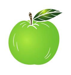 green apple - vector image