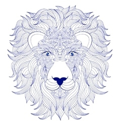 Head of lion on white background vector