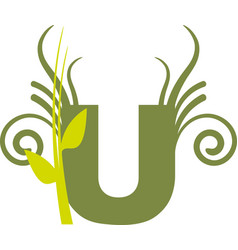 nature u vector image vector image
