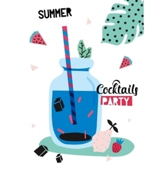 Summer Coctail Party vector image