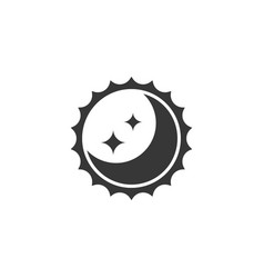sun and moon for day and night sign silhouette ic vector image vector image