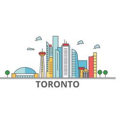 toronto city skyline buildings streets vector image