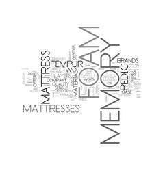 a guide to memory foam companies text word cloud vector image