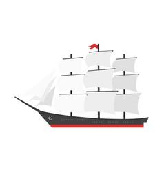 cartoon style ship vector image
