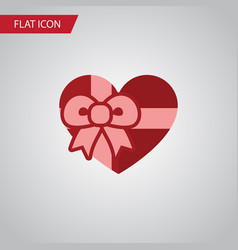 isolated gift flat icon present element vector image