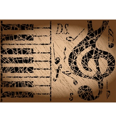 old musical background vector image