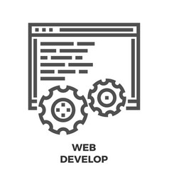 web develop line icon vector image