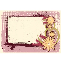 grunge decoration vector image vector image