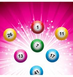 lottery ball background vector image