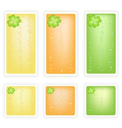 Set of Four Leaf Clovers Banner vector image vector image