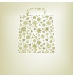 Snowflakes bag template EPS 8 vector image